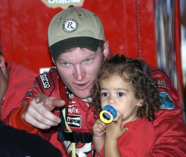 2002 NASCAR,Darlington Raceway,Aug 30-Sept 1 20022002 NASCAR, Darlington,SC. USA -Dale Earnhardt Jr with niece,Copyright-Robt LeSieur2002LAT Photographic