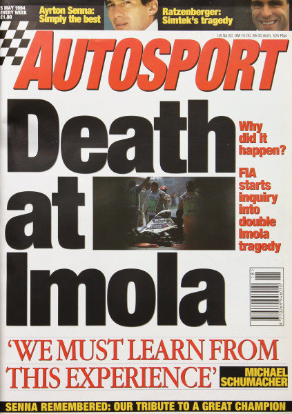 Cover of Autosport magazine, 5th May 1994