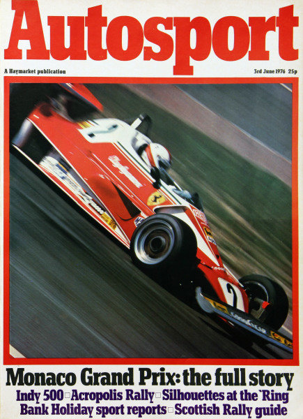 Cover of Autosport magazine, 3rd June 1976