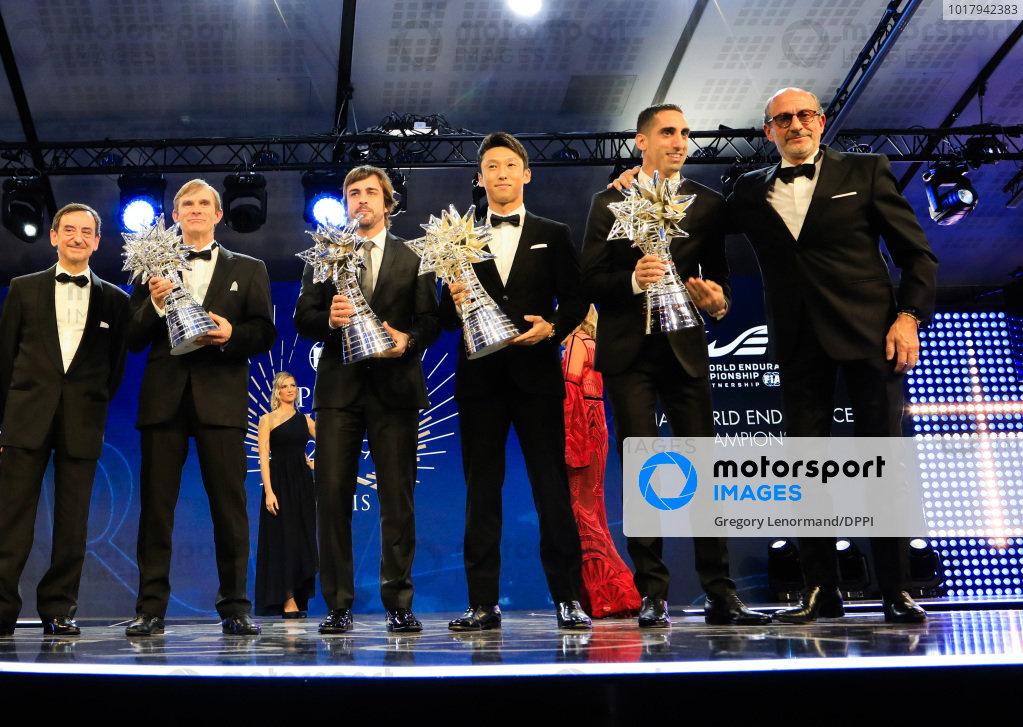 Sébastien Buemi, Fernando Alonso and Kazuki Nakajima with Richard Mille