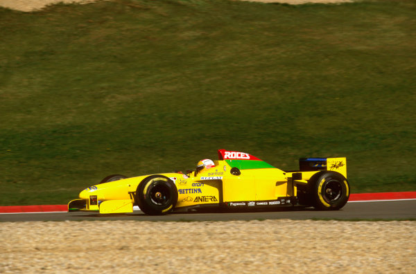 Nurburgring, Germany.26-28 April 1996.Luca Badoer (Forti FG03 96 Ford). He failed to qualify.Ref-96 EUR 14.World Copyright - LAT Photographic