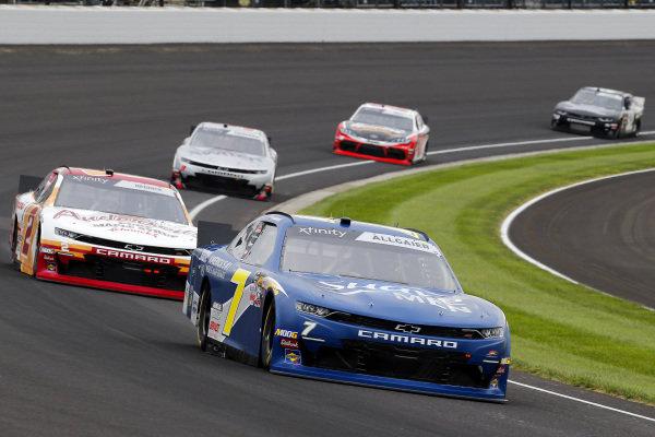 #7: Justin Allgaier, JR Motorsports, Chevrolet Camaro Suave Men and #2: Tyler Reddick, Richard Childress Racing, Chevrolet Camaro Anderson's Maple Syrup