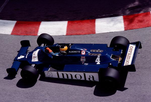 1981 Monaco Grand Prix. Monte Carlo, Monaco. 28-31 May 1981. Michele Alboreto (Tyrrell 010 Ford). Ref-81MON77. World Copyright - LAT Photographic