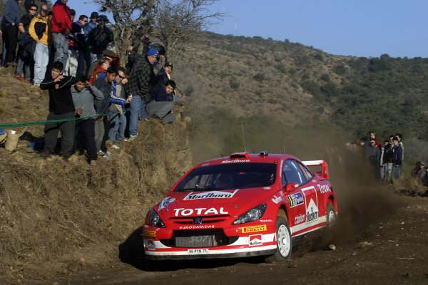 2005 FIA World Rally Champs. Round nine, Rally Argentina 14th - 17th July 2005 Markko Martin, Peugeot, action World Copyright: McKlein/LAT