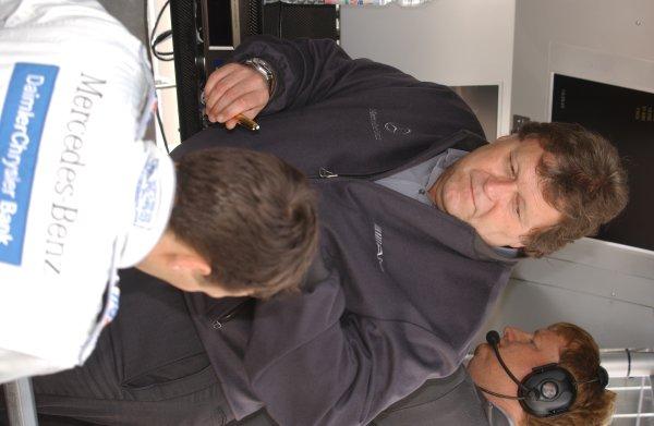 2005 DTM ChampionshipHockenheim, Germany. 21st - 23rd October 2005.Norbert Haug with Gary Paffett. Portrait.World Copyright: Andre Irlmeier/LAT Photographicref: Digital Image Only