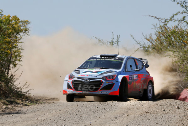 2014 World Rally Championship Rally Mexico 6th - 9th March 2014 Chris Atkinson, Hyundai, action Worldwide Copyright: McKlein/LAT