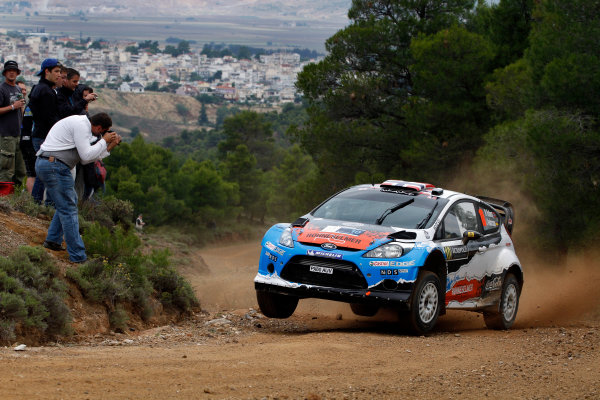 Round 06 - Rally Acropolis, Greece. 24-27 May 2012. Mads Ostberg, Ford WRC, Action.  Worldwide Copyright: McKlein/LAT
