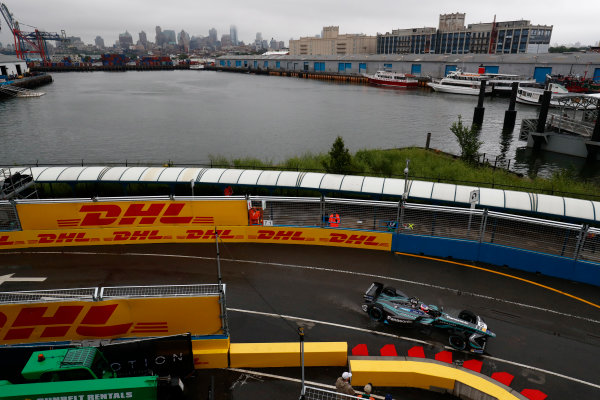 2016/2017 FIA Formula E Championship. Round 9 - New York City ePrix, Brooklyn, New York, USA. Friday 14 July 2017.Mitch Evans (NZL), Jaguar Racing, Spark-Jaguar, Jaguar I-Type 1. Photo: Sam Bloxham/LAT/Formula E ref: Digital Image _W6I1684