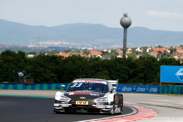 2017 DTM Round 3 Hungaroring, Budapest, Hungary. Sunday 18 June 2017. René Rast, Audi Sport Team Rosberg, Audi RS 5 DTM World Copyright: Alexander Trienitz/LAT Images ref: Digital Image 2017-DTM-R3-HUN-AT1-1819