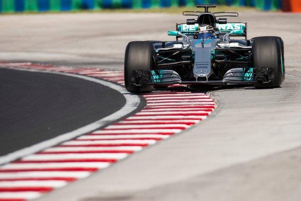 Hungaroring, Budapest, Hungary.  Tuesday 01 August 2017. Valtteri Bottas, Mercedes F1 W08 EQ Power+. World Copyright: Joe Portlock/LAT Images  ref: Digital Image _R3I0329.CR2