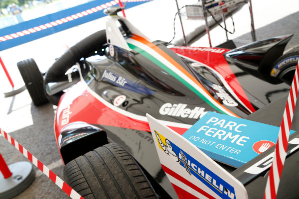 Buenos Aires e-Prix Race. Mahindra Car awaits Parc Ferme inspection. FIA Formula E World Championship. Buenos Aires, Argentina, South America. Saturday 10 January 2015.  Copyright: Adam Warner / LAT / FE ref: Digital Image _L5R7161