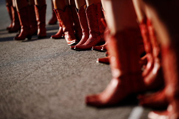 Circuit of the Americas, Austin, Texas, United States of America. Saturday 1 November 2014. Grid Girl. World Copyright: Charles Coates/LAT Photographic. ref: Digital Image _N7T3118