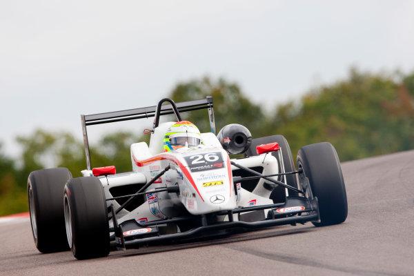 Dijon - Prenois, France. Saturday 10th October. Alexander Sims (Mucke Motorsport Dallara F308 / Mercedes). Action. World Copyright: Alastair Staley/LAT Photographic.Ref: _O9T8855 jpg