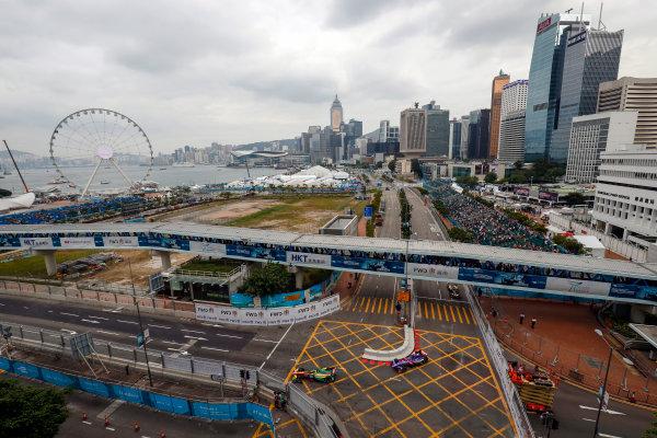 FIA Formula E Hong Kong e-Prix. Shakedown. Daniel Abt (GER), ABT Schaeffler Audi Sport, Spark-Abt Sportsline, ABT Schaeffler FE02, Sam Bird (GBR), DS Virgin Racing, Spark-Citroen, Virgin DSV-02. Hong Kong Harbour, Hong Kong, Asia. Saturday 8 October 2016. Photo: Adam Warner / FE / LAT ref: Digital Image _84I6148