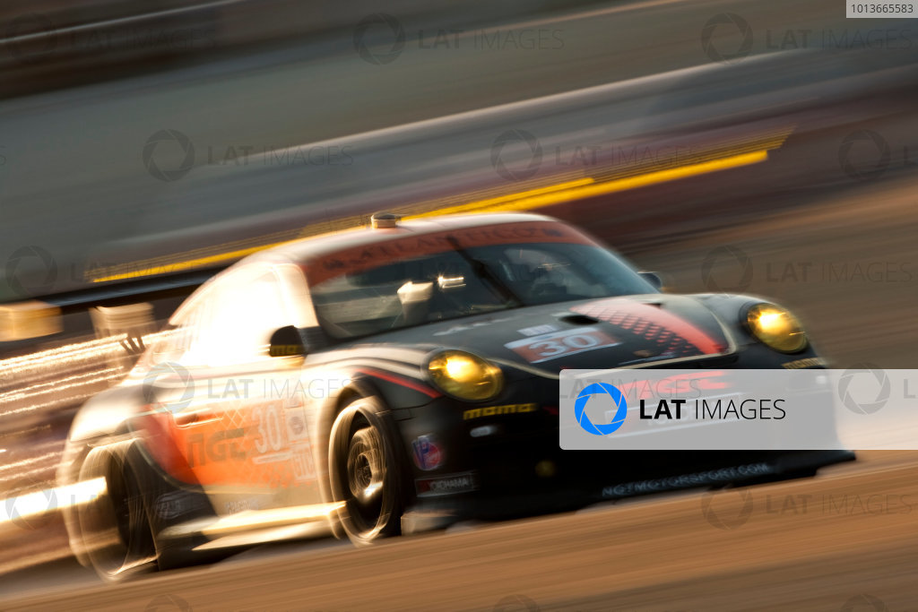 American Le Mans Series. Laguna Seca, Monterey, California. 15th - 17th September 2011. Sean Edwards / Carlos Kauffman / Henrique Cisneros, NGT Motorsports, Porsche 911 GT3 Cup. Action. Photo: Drew Gibson/LAT Photographic. ref: Digital Image _Y2Z6961