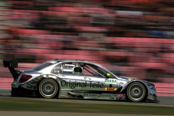 Bernd Schneider (GER) Original-Teile AMG Mercedes  DTM, Rd 1, Hockenheim, Germany, 12-13 April 2008.