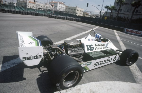 1982 United States Grand Prix West.Long Beach, California, USA. 2-4 April 1982.Keke Rosberg (Williams FW07C-Ford Cosworth), 2nd position.World Copyright: LAT PhotographicRef: 35mm transparency 82LB24