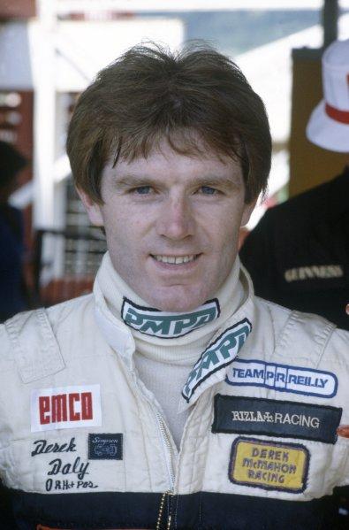 1981 German Grand Prix.Hockenheim, Germany. 31 July-2 August 1981.Derek Daly (March 811-Ford Cosworth), retired. Portrait.World Copyright: LAT PhotographicRef: 35mm transparency 81GER14