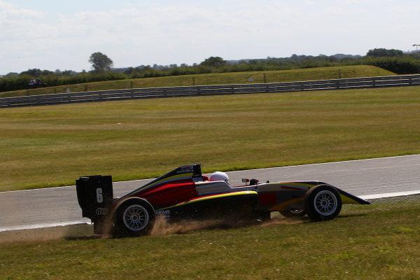 2016 BRDC F3 Championship, Snetterton, Norfolk. 6th - 7th August 2016. Krishnaraaj Mahadik (IND) Chris Dittmann Racing BRDC F3. World Copyright: Ebrey / LAT Photographic.