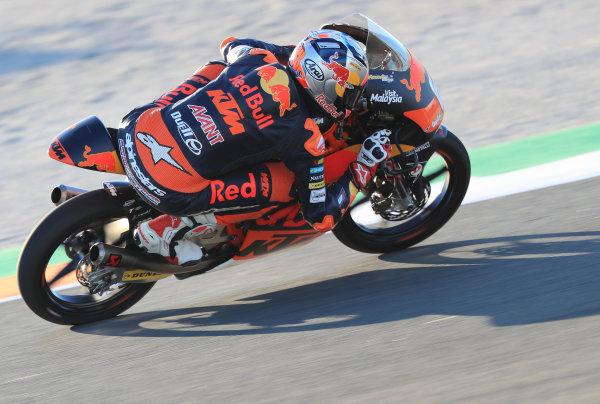 2017 Moto3 Championship - Round 18 Valencia, Spain  Friday 10 November 2017 Bo Bendsneyder, Red Bull KTM Ajo  World Copyright: Gold and Goose Photography/LAT Images  ref: Digital Image 704585