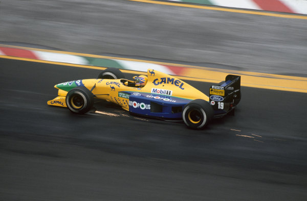 Mexico City, Mexico. 14-16 June 1991.Roberto Moreno (Benetton B191-Ford), 5th position, action. World Copyright: LAT Photographic.Ref:  91MEX