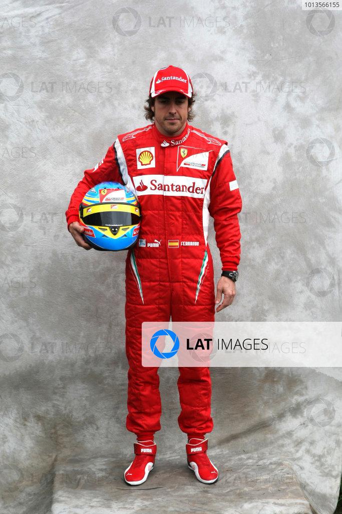 Albert Park, Melbourne, Australia24th March 2011.Fernando Alonso, Ferrari F150Â¡ Italia. Portrait. World Copyright: LAT Photographicref: Digital Image2_LC1387
