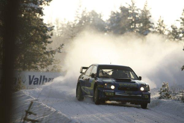 2007 FIA World Rally Championship,Round 2 Swedish Rally 8th-11th February 2007,Mads Ostberg, Subaru, action.Worldwide Copyright McKlein/LAT.