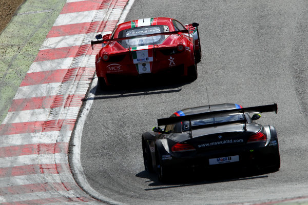 2014 Avon Tyres British GT Championship, Brands Hatch, Kent. 30th - 31st August 2014. Pasin Lathouras / Matt Griffin AF Corse Ferrari 458 Italia. World Copyright: Ebrey / LAT Photographic.