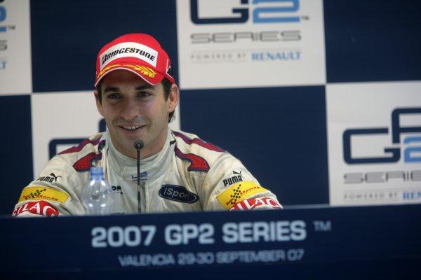 2007 GP2 Series. Round 11.Valencia, Spain. 30th September.Sunday Race. 2007 GP2 Series Champion Timo Glock (GER, iSport International). Portrait.World Copyright: Alastair Staley/GP2 Series Media Service.ref: Digital Image ZP9O0521