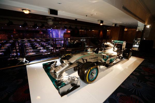 2014 Autosport Awards. Grosvenor House Hotel, Park Lane, London. Sunday 7 December 2014. Mercedes Benz F1 W05 Hybrid. World Copyright: Sam Bloxham/LAT Photographic. ref: Digital Image _14P3430