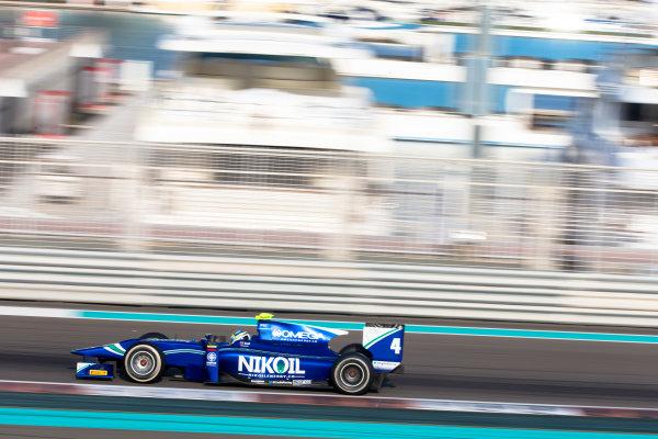 2014 GP2 Series Test 1  Yas Marina Circuit, Abu Dhabi, UAE.  Wednesday 12 March 2014. Julian Leal (COL) Carlin  Photo: Malcolm Griffiths/GP2 Series Media Service ref: Digital Image F80P5092