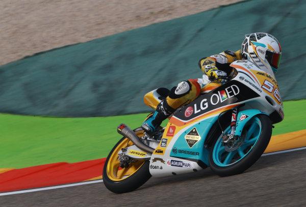 2017 Moto3 Championship - Round 14 Aragon, Spain. Saturday 23 September 2017 Juan Francisco Guevara, RBA Racing Team World Copyright: Gold and Goose / LAT Images ref: Digital Image 14017