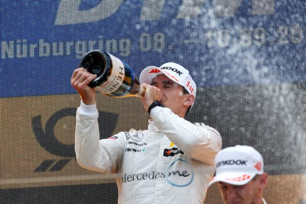 2017 DTM Round 7  Nürburgring, Germany  Sunday 10 September 2017. Podium: Robert Wickens, Mercedes-AMG Team HWA, Mercedes-AMG C63 DTM  World Copyright: Alexander Trienitz/LAT Images ref: Digital Image 2017-DTM-Nrbg-AT2-4685