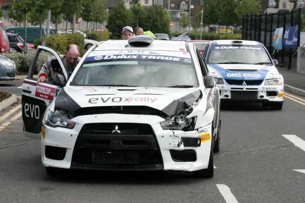 Rally Northern Ireland. 20 - 21st August 2010.Gwyndaf Evans/Phil Pugh - Mitsubishi Lancer Evo 10 Rally.World Copyright: Ebrey/LAT Photographic.