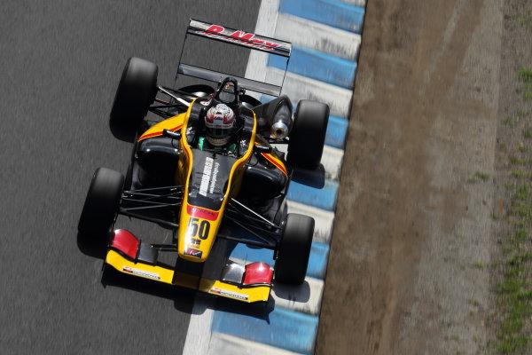 Motegi, Japan. 3rd - 4th August 2013. Rd 5. Race 1 - 2nd position Katsumasa Chiyo ( #50 B-MAX ENGINEERING ) action. World Copyright: Yasushi Ishihara/LAT Photographic. Ref: 2013JF3_Rd10_011