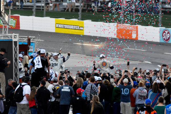 2017 Monster Energy NASCAR Cup Series STP 500 Martinsville Speedway, Martinsville, VA USA Sunday 2 April 2017 Brad Keselowski celebrates the win in victory lane World Copyright: Scott R LePage/LAT Images ref: Digital Image lepage-170402-mv-5789