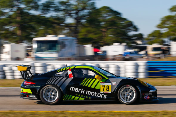 2017 Porsche GT3 Cup USA Sebring International Raceway, Sebring, FL USA Wednesday 15 March 2017 78, Max DeAngelis, GT3G, USA, 2014 Porsche 991 World Copyright: Jake Galstad/LAT Images ref: Digital Image lat-galstad-SIR-0317-14871