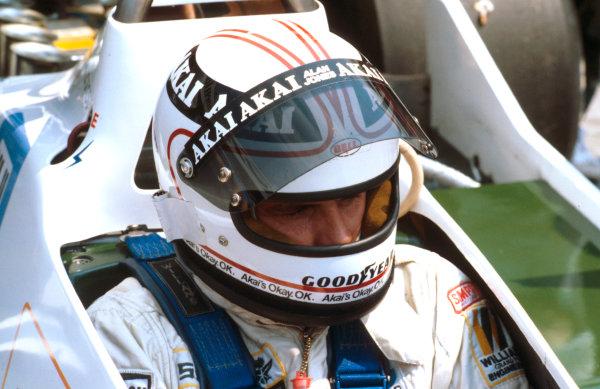 1979 German Grand Prix.Hockenheim, Germany.27-29 July 1979.Alan Jones (Williams Ford) 1st position. Ref-79 GER 07.World Copyright - LAT Photographic
