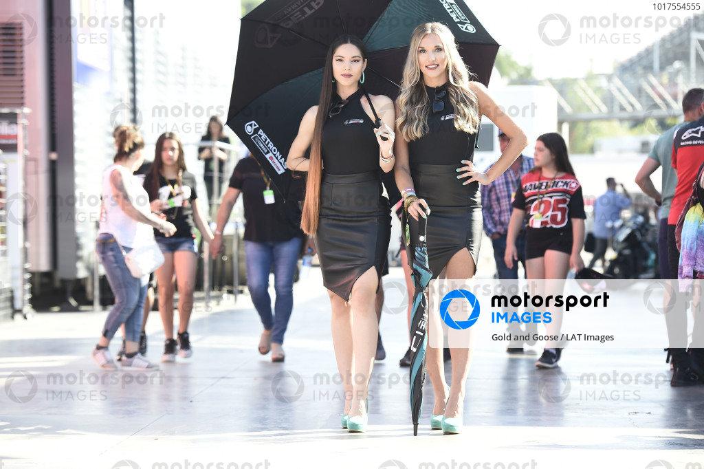 MotoGP grid girls.