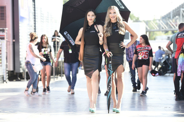 MotoGP grid girls.