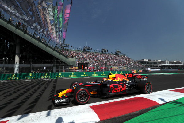 Max Verstappen (NED) Red Bull Racing RB13 at Formula One World Championship, Rd18, Mexican Grand Prix, Qualifying, Circuit Hermanos Rodriguez, Mexico City, Mexico, Saturday 28 October 2017. BEST IMAGE