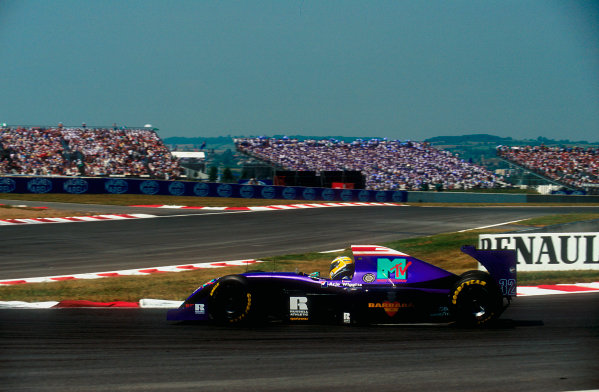 1994 French Grand Prix.Magny-Cours, France.30/6-2/7 1994.Jean-Marc Gounon (Simtek S941 Ford) 9th position.Ref-94 FRA 15.World Copyright - LAT Photographic