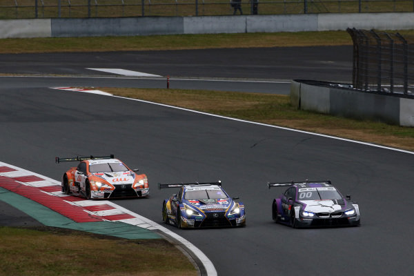 Kamui Kobayashi, BMW Team RBM BMW M4 DTM, Yuji Kunimoto, Lexus Team Bandoh Lexus LC500, Kazuki Nakajima, Lexus Team TOM'S Lexus LC500.