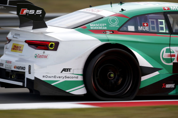 flat tire, Nico Müller, Audi Sport Team Abt Sportsline, Audi RS 5 DTM.
