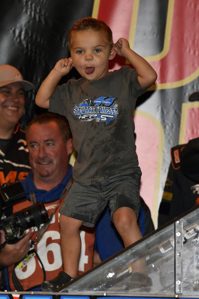 #52: Stewart Friesen, Halmar Friesen Racing, Chevrolet Silverado Halmar International celebrates this win