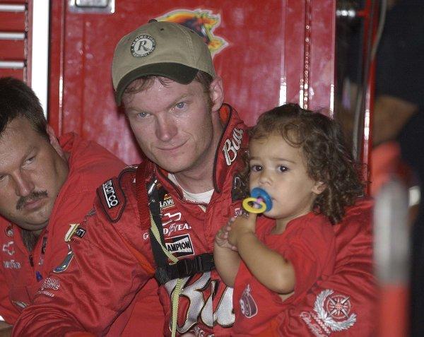 2002 NASCAR,Darlington Raceway,Aug 30-Sept 1 20022002 NASCAR, Darlington,SC. USA -Dale Earnhardt Jr. with niece,Copyright-Robt LeSieur2002LAT Photographic