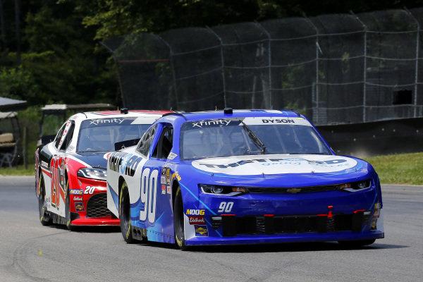 #90: Chris Dyson, DGM Racing, Chevrolet Camaro Thetford and #20: Christopher Bell, Joe Gibbs Racing, Toyota Supra Rheem