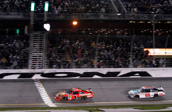 5-14 February, 2010, Daytona Beach, Florida, USAJamie McMurray takes the checkered flag.Dale Earnhardt Jr. finishes 2nd.©2010, David J. Griffin, USALAT Photographic