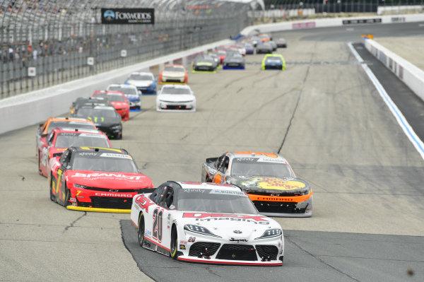#20: Harrison Burton, Joe Gibbs Racing, Toyota Supra DEX Imaging, #9: Noah Gragson, JR Motorsports, Chevrolet Camaro Bass Pro Shops TrueTimber BRCC