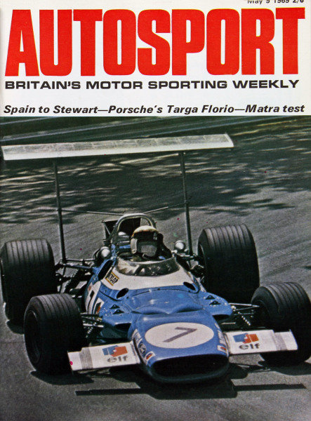 Cover of Autosport magazine, 9th May 1969